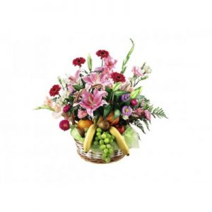 Fruit and flower arrangement