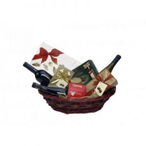 Chocolate and wine basket
