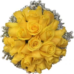 Bridal bouquet of yellow roses
