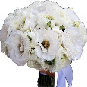 Букет невесты Лизиантус
