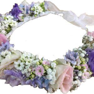 пастельные цветы корона