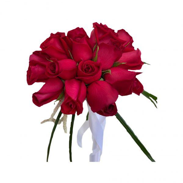 פרחי גורדון זר כלה ורדים אדומים