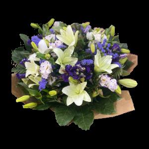 Белая лилия плюс фиолетовый