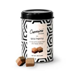 Truffle nougat in tin packaging