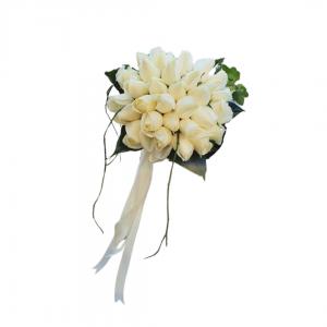 זר כלה ורדים אוף-ווייט