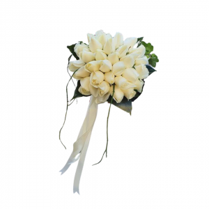 Букет невесты Off-white розы